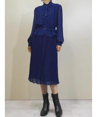 Howdy blue peplum classical dress-1385-9
