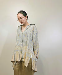 Pale tone paisley pattern over size shirt-1318-8