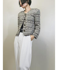 adiondor monotone bird design jacket-1404-9