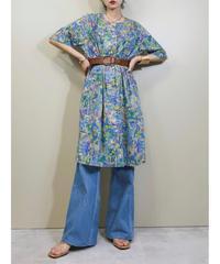 Mosaic design no collar rétro dress-1978-6