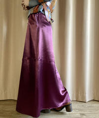 R'CO. MADE IN U.S.A. satin long skirt-2182-9