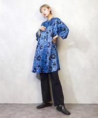 Blue&black rose rétro tunic-950-3