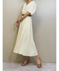 CorolAnderson cream yellow rétro dress-1170-6