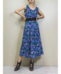 S.ROBERTS blue purple flower dress-1306-8