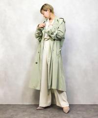 DRESSING WELL pistachio trench coat-985-3