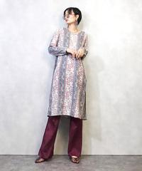 Pink paisley pattern ethnic tunic-958-3