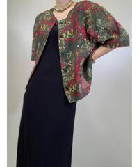 Elegance fashion rétro green tops-1875-5