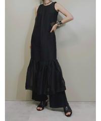PAPER LONDON silk yarn sheer dress -2027-7