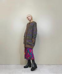 Majorca mix color long knit cardigan-1503-11