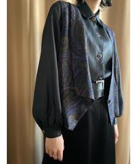 Paisley design rétro purple one collar vest-2192-9