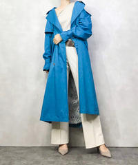 LONDON FOG saxe blue trench coat-1055-4
