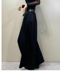 SOCIAL KINDWEAR black maxi skirt-2186-9