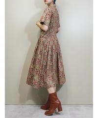 VOR vintage flower design cotton dress-1966-6
