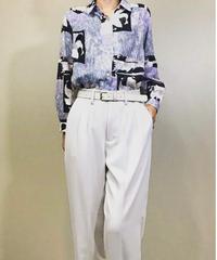 UNO-DOS lily pale rétro shirt-1136-5