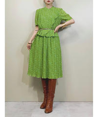 VOIR MADE BY sanyo lime green color dress-1898-5