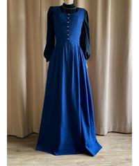 Jacquard fabric floral vintage maxi dress-2171-9