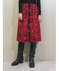 zebra  design  red  medium skirt-1329-8