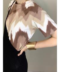 MADE IN USA brown tie dye  design t-shirt-1977-6