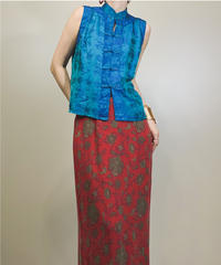 OM GALLERY sky blue china tops-1233-6
