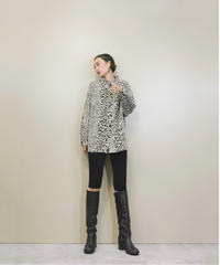 Animal design leopard import shirt-1384-9
