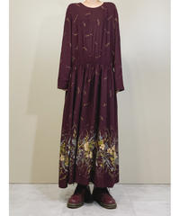 BEDFORD FAIR MADE IN U.S.A burgundy dress-1504-11