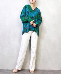 Blue&Green artistic paints shirt-922-2