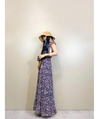 BOUTIQUE floral navy maxi dress-1880-5