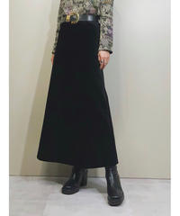 Miss ALICE velor fabric long skirt-1602-1