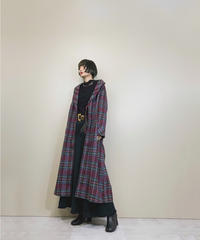 ORIGINAL OElm Tartan plaid gown-1612-1