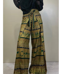 Rolled ethnic design thailand pants-2106-8