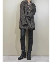cote herringbone mix color half coat-1444-10