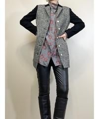 Bicolor tweed fabric rétro jacket-1641-2