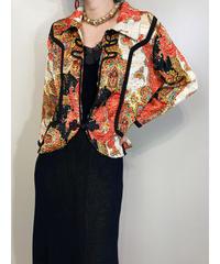 Paisley pattern exotic china shirt jacket-1807-4