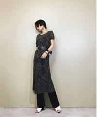 Chic paisley pattern long dress-1146-5