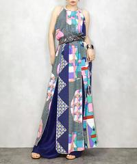 MADE IN U.S.A Line up maxi dress-1094-5
