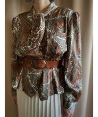 Paisley design rétro brown tops-2173-9