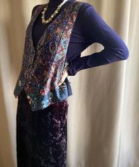 Flower patchwork design rétro vest-2245-10