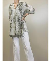 BARISAL see-through flowing pattern shirt-1261-7