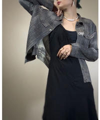 ISSEY MIYAKE PLEATS PLEASE denim motif shirt jacket-2067-7