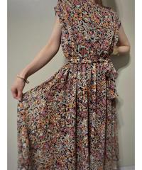 Warm color floral elegant dress-2008-7