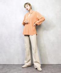 Marienne orange  embroidery shirt-916-2