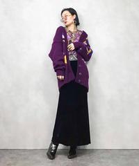 S.K.V.J over size purple knit cardigan-835-1