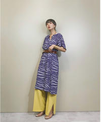 Budo zebra pattern purple dress-1305-8