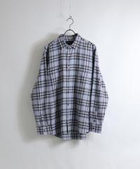 ソフトネルチェックシャツ /サックス