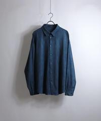 ポリスウェードドルマンシャツ /ブルー