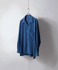 LSビッグオープンカラーシャツジャケット /ブルー