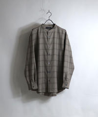 TRバンドカラーLSシャツ /ベージュ2