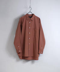 ソフトブロードビッグシルエットシャツ/オレンジ