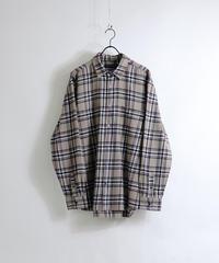 ソフトネルチェックシャツ /ベージュ
