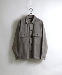 TRチェックCPOシャツJKT /グレー